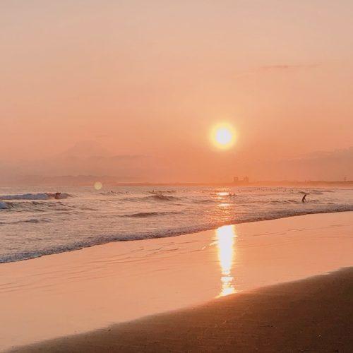 江の島 夕焼け